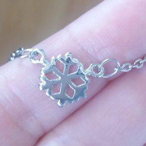 Snowflake Necklace/Bracelet/Anklet, Handmade 🌸